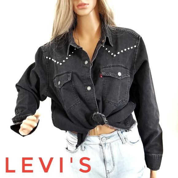Western/MOTO Shirt Jacket LEVI'S Raw Distressed